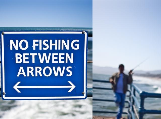 fishing in the pacific ocean. california fishing law. santa monica pier.