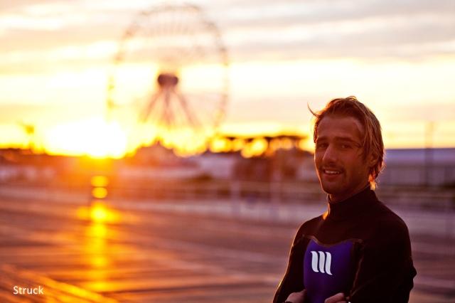 ocean city photographer. ferris wheel photo. portrait. west wetsuits.