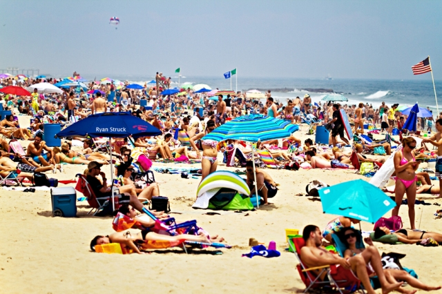 belmar new jersey. photos of jersey shore. beach front. tide line. beach front property. classic new jersey photo.
