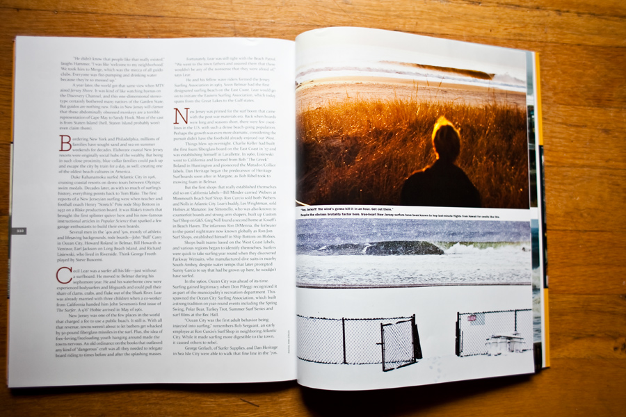 Surfers Journal. Surf Magazine. New Jersey Surf Photographer. NJ Surf Article.