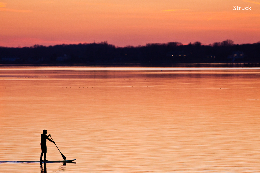 sup photo. stand up paddle. how to sup. sunset picture. new jersey surf.