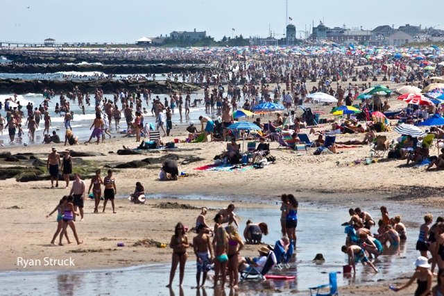 the jersey shore. new jersey photographer. 4th of july. fourth of july. crowded beach shot. how many people go to the beach. where is the jersey shore. where is the best beach in new jersey. nj photography.