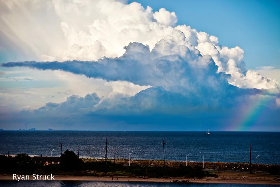 somewhere over the rainbow. rainbow photography. rainbow at the beach. storm photography. storm images. dramatic sky. thunderstorm.