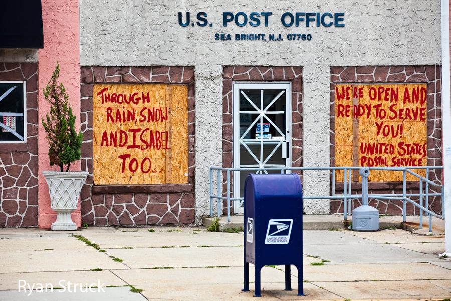 sea bright post office. sea bright hurricane storm damage. hurricane irene sea bright.