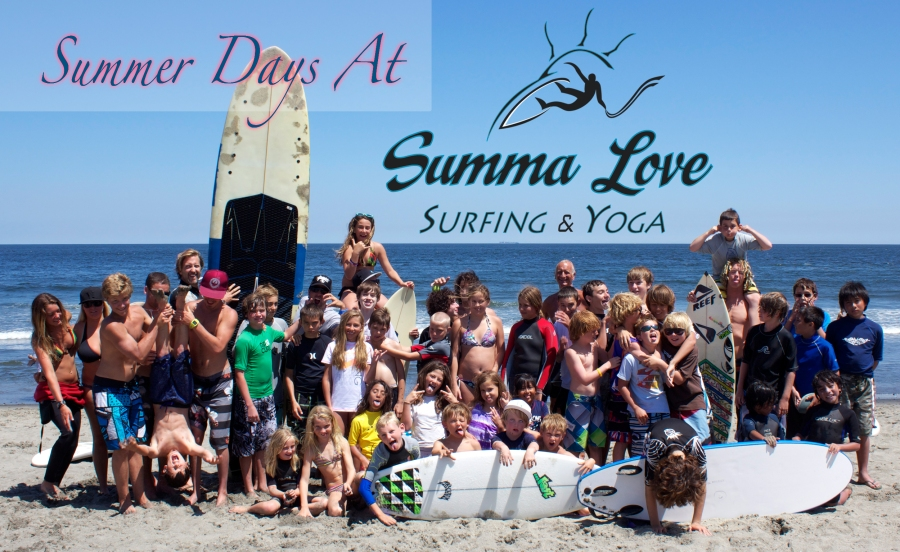 summa love surfing and yoga. yoga class. surf lessons. new jersey. deal new jersey.