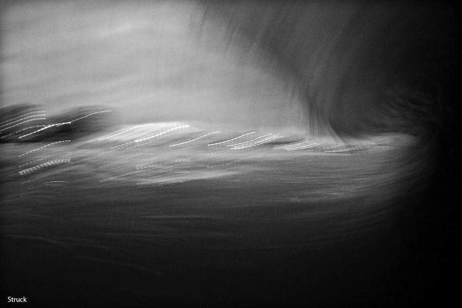 night surfing. night photo. night photography. black and white.