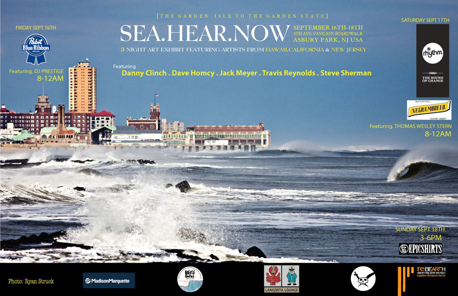 sea hear now. asbury park art show. asbury art scene. bonfire. september 16 2011. surf photographer. asbury park surf photo. convention hall surf.