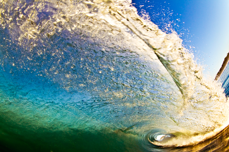 shore break. surf photographer. ryan struck. front lit. fine art surf photography. buy fine art prints. pacific ocean. blue wave. orange wave. green wave. clark little.