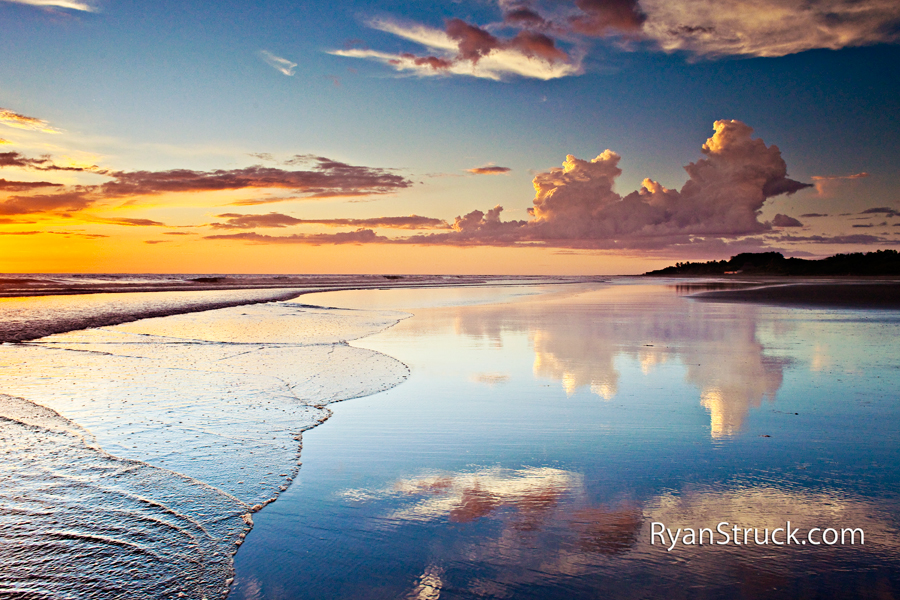 sunset. central america. sunset photo. cloud photography. reflection. landscape photography. landscape photographer. lifestyle photographer. ryan struck.
