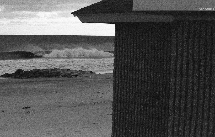black and white photography. film photographer. new jersey beaches. nj surf report. 35mm black and white. ilford 3200.