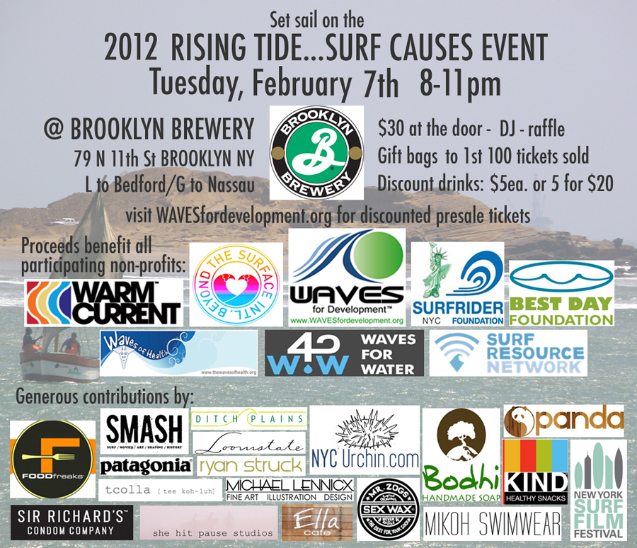 NYC Surf. Brooklyn Brewery. Fundraiser. Brooklyn Art. Brooklyn Surf.