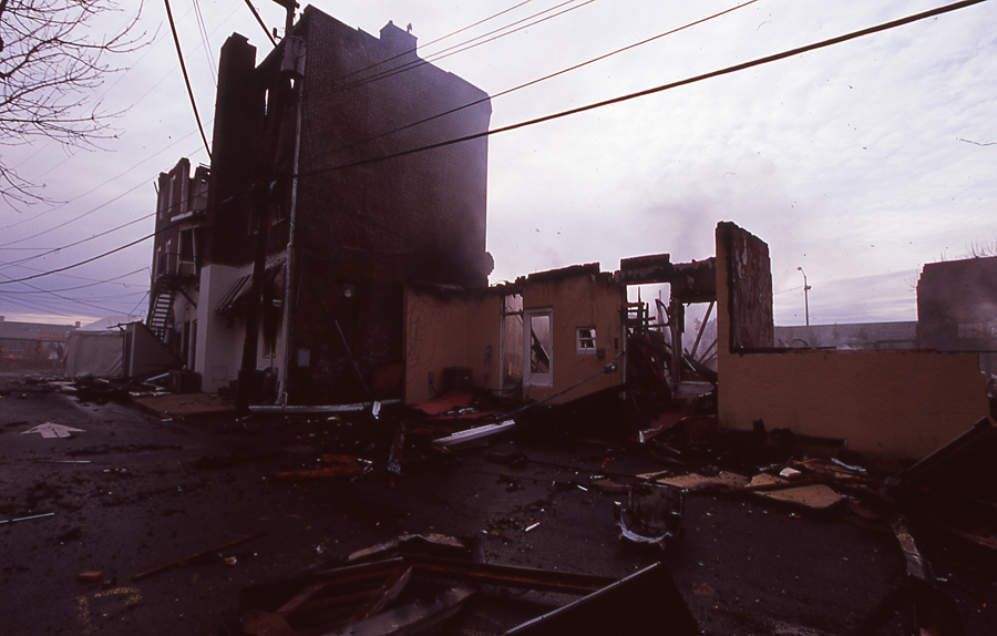 fire. long branch. new jersey. photos of long branch fire. apartment fire. new jersey fire photography. 35mm film.
