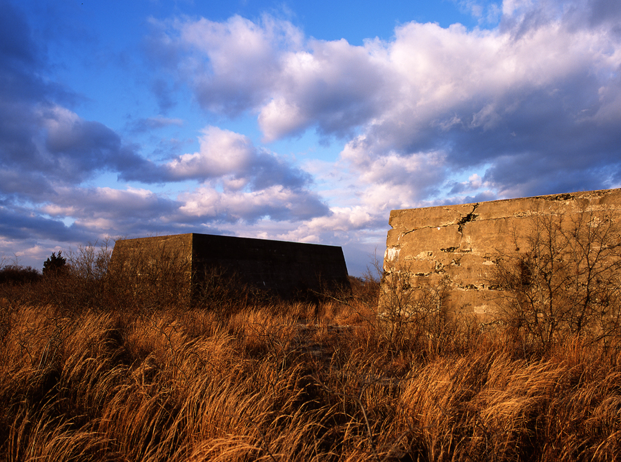 sandy hook new jersey. fort handcock. slide film. velvia. medium format photography. sunset. texture. dry grass.