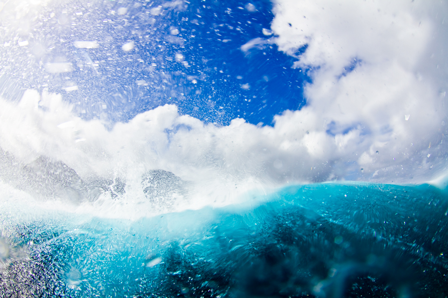 french polynesia. teahupoo. tahiti. tahiti nui. surf. south pacific. surf photographer. fisheye surf photo. water photography. blue water. crystal clear water.