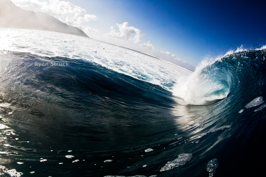 tahiti. surf photography. fisheye. swimming at teahupoo. teahupoo fisheye. teahupoo photographer. surfing. surf print. wave print.