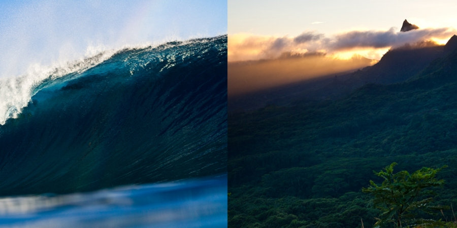 teahupoo. south pacific. camping. backpacking. sunrise. moorea. island. travel photographer. sea level. elevation. back country photography.