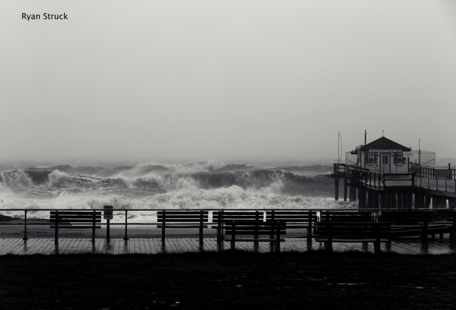 Ocean Grove. Hurricane Photos. Hurricane Sandy Photos. Ocean Grove Pier. October. 2012. New Jersey.