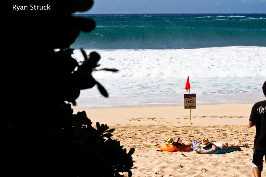 Off The Wall. The North Shore. Hawaii. Huge Waves. Big Waves. November. 2012.