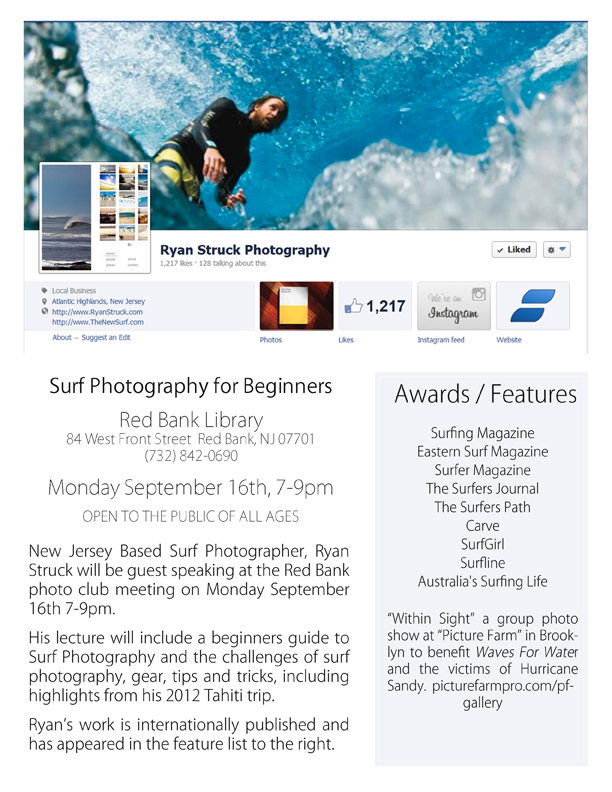 Surf Photography at the Red Bank Public Library