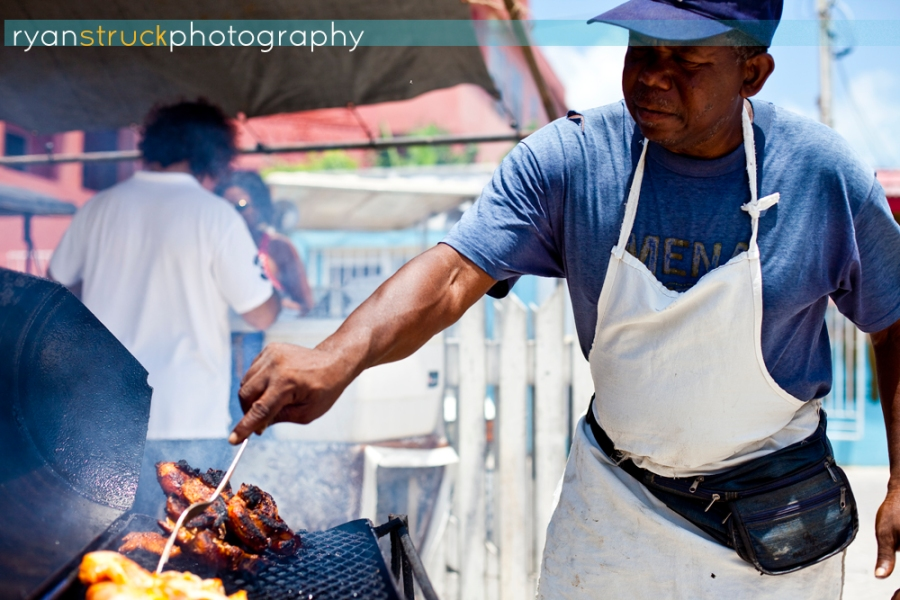local food vendor. belize food. belize city.