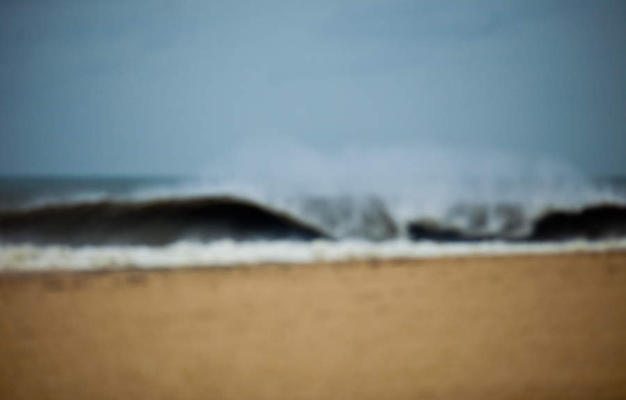 waves. abstract beach. out of focus.
