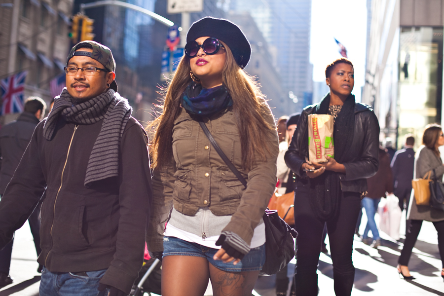 new york city. street photography. fall fashion. street advertisment. november 2013. what are people wearing. new york photographer.