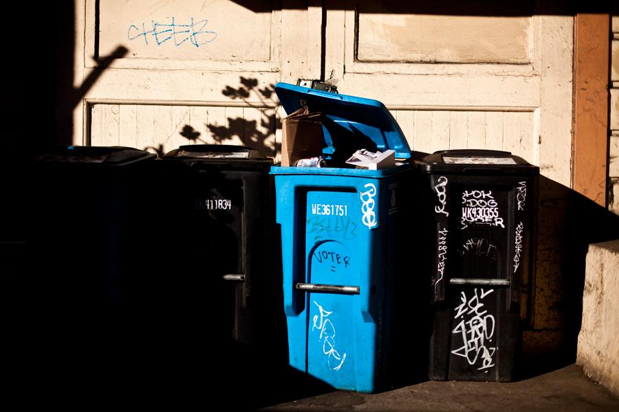 trash collection. street. california. san Francisco