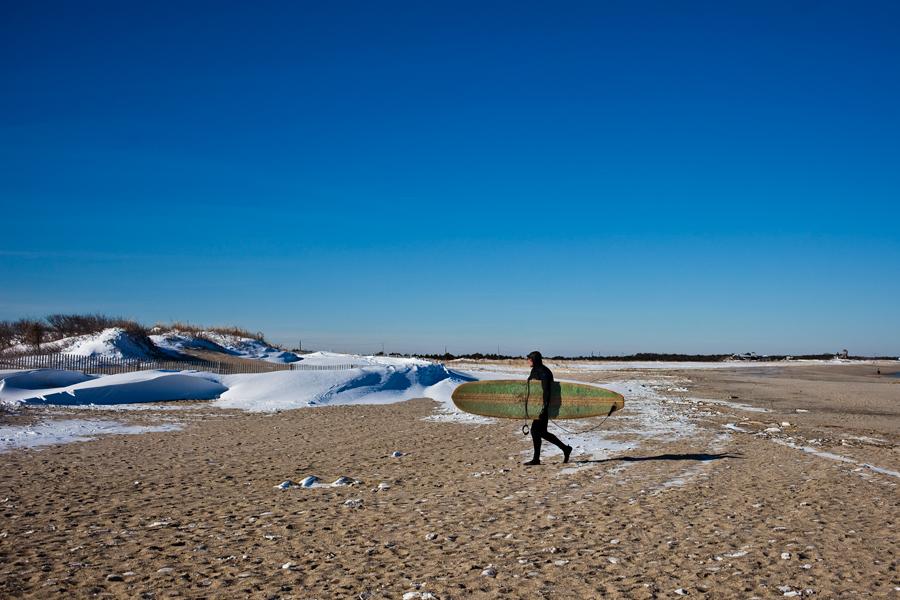 snow beach