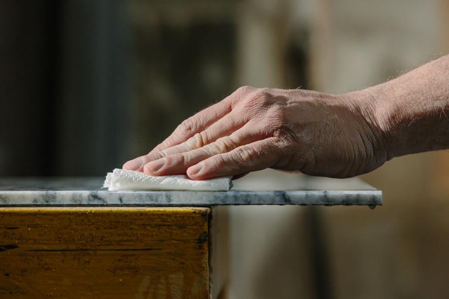 polishing hand detail