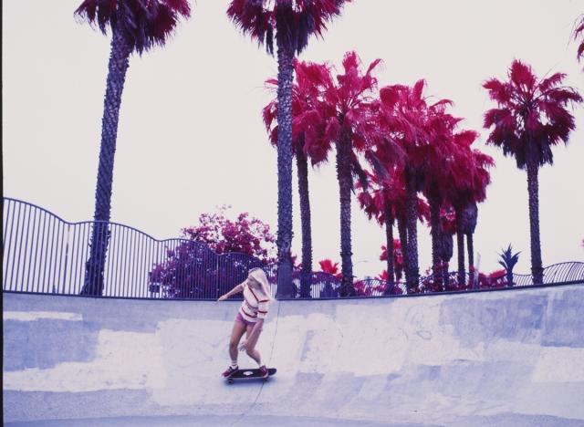 skate. woman. california. infrared